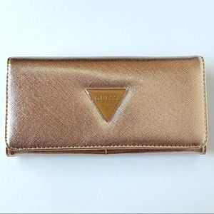 Guess Bags - Guess Abree SLG Clutch Rose Gold NWT SF602653